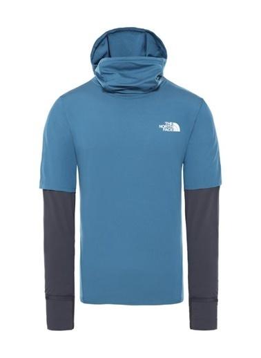 The North Face Active Trail Storm Balaclava Fleece Erkek Sweatshirt Mavi Renkli